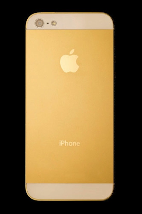 iPhone 5 Amosu Couture gold