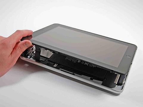 Снятие сенсорной панели и экрана iPad первого поколения