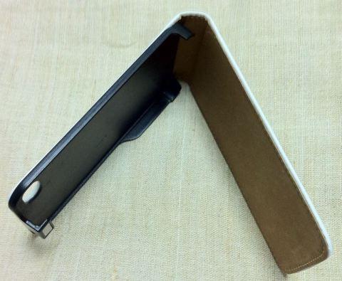Чехол для iPhone 4, белый, раскрытый чехол