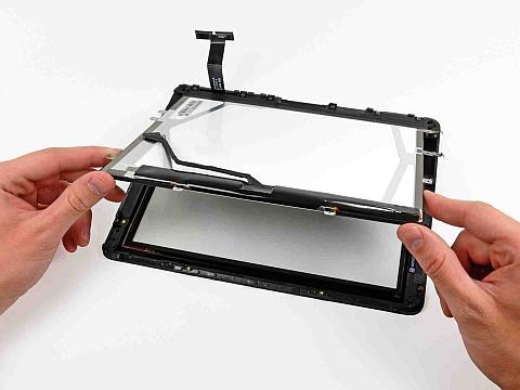 Снятие дисплея в iPad первого поколения