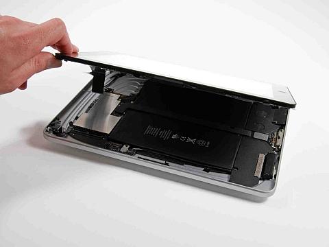 Отключение шлейфов в iPad