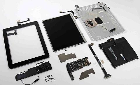 Все элементы из которых состоит iPad первого поколения