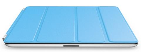 Голубая полиуретановая обложка Smart Cover для iPad 2